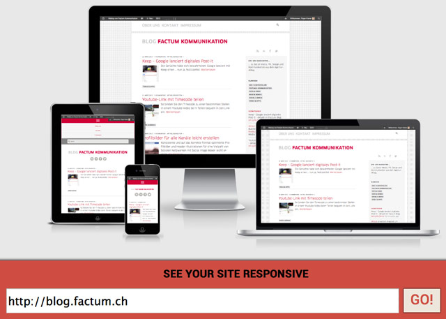 Screenshot von Am I Responsive?